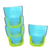 Тренировочный стакан Brother Max, 4 шт. в упаковке,  голубой/зеленый (49816)