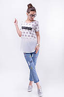 Женская футболка с шифоном