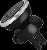 Магнитный Автодержатель Baseus Magnetic Car Air Vent в воздухозаборник, Черный с серебристым, 360-degree Rotation