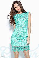 Коктейльное платье с камнями S M L