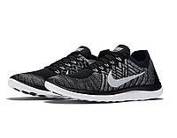 Кроссовки мужские Nike Free Flyknit 4.0 OREO Black White, фото 1
