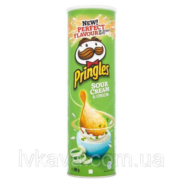 Чипсы  Pringles Sour Cream & Onion, 165 гр