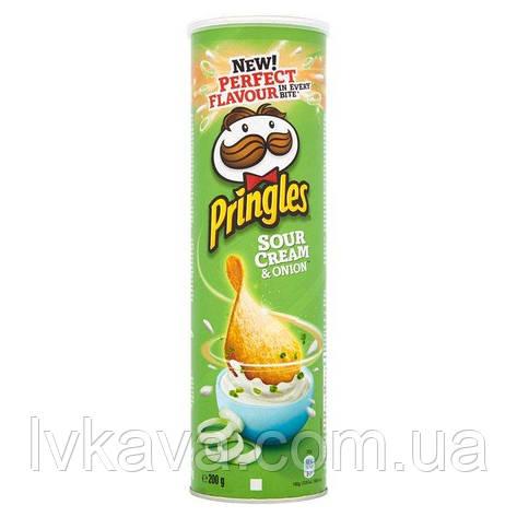 Чипсы  Pringles Sour Cream & Onion, 165 гр, фото 2