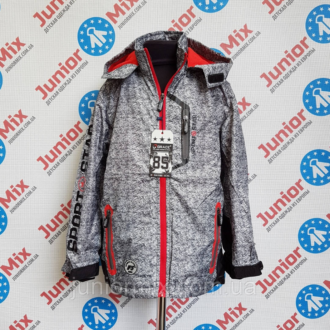 Подростковая демисезонная  куртка для мальчика GRACE оптом