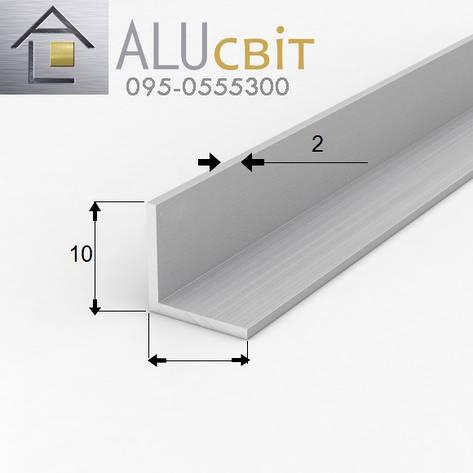 Уголок алюминиевый 10х10х2 без покрытия, фото 2