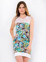 Удобное легкое женское платье с цветочным принтом 90113, фото 1