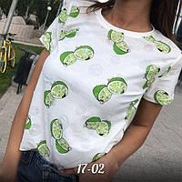 Женская модная футболка с фруктами