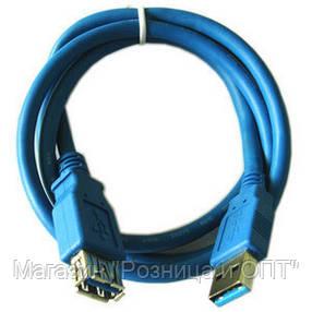 Кабель USB2.0 AM/AF 1,5м (в пакете синий), фото 2