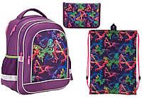 "Комплект школьный. Рюкзак ""Neon butterfly"" K17-509S-2, Пенал и Сумка, ТМ  KITE"