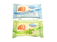 Влажные салфетки для детей Lindo с природными экстрактами 60 шт