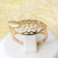 002-2559 - Позолоченное кольцо, 17, 18.5, 19.5 р.