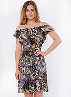 Летнее женское платье-трансформер с ярким принтом 90114