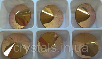 Риволи Preciosa (Чехия) 16 мм Crystal Capri Gold