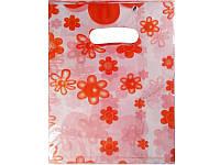 Пакеты с прорезной ручкой Китай подарочный №8 20x25 (уп.100шт.)