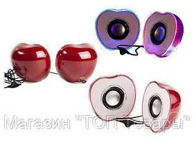 Колонки компьютерные USB 2.0 N-128X MIX Яблоко, фото 3
