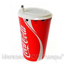 Портативный динамик Coca Cola стакан с подсветкой, фото 3