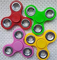 Спиннер Красный с металлическими втулками Fidget Toy, Hand spinner, finger spinner,Вертушка,Хендспиннер фиджет