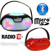 Портативная Bluetooth колонка WS-1803B 2*3W светомузыка (microSD, USB, FM, HF), фото 2