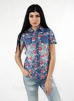 Летняя скидка -10% на женские рубашки в клетку, джинсовые, цветочный принт!!!