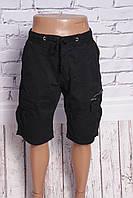 Мужские джинсовые шорты M.Sara с накладными карманами (код 3529-черный), фото 1