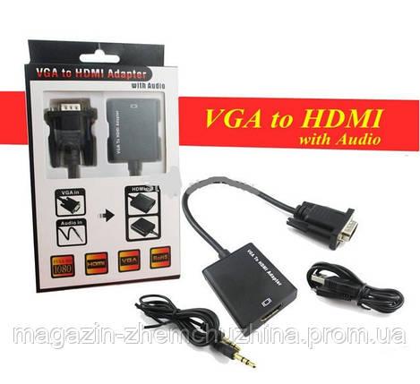 Конвертер 5138 VGA на HDMI (коробка), фото 2