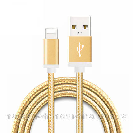 Кабель USB-IPHONE 5/6 3 A GOLD Good Quality, фото 2
