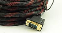 Видео кабель VGA/DVI 2 феррит. 10м