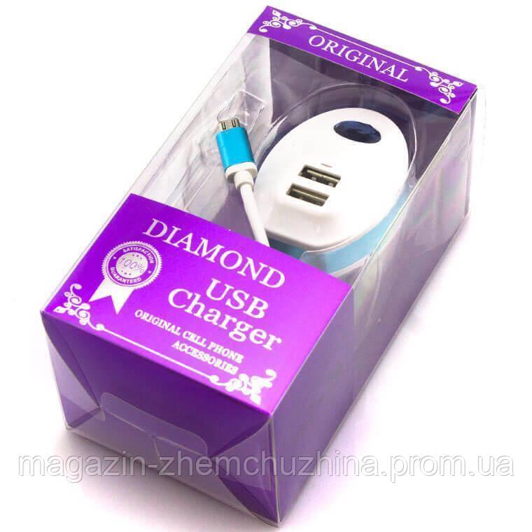 Зарядное устройство MICRO+ 2 USB (Diamond USB)