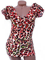 Женские футболки с рюшами (разные цвета 44-46)