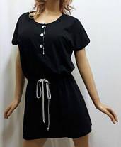 """Туника для дома, ночная рубашка, сорочка женская под пояс,""""сердце удачи"""", фото 2"""