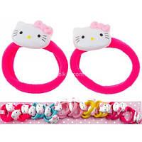 """Резиночка """"Hello Kitty мордочка"""", Микрофибра, (20 шт), О2400"""