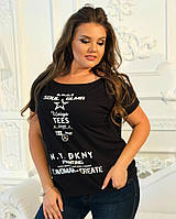 Женская футболка черная с рисунком