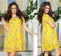 Легкое платье с ткани креп шифон свободного кроя
