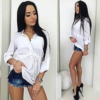 Удлиненная туника рубашка