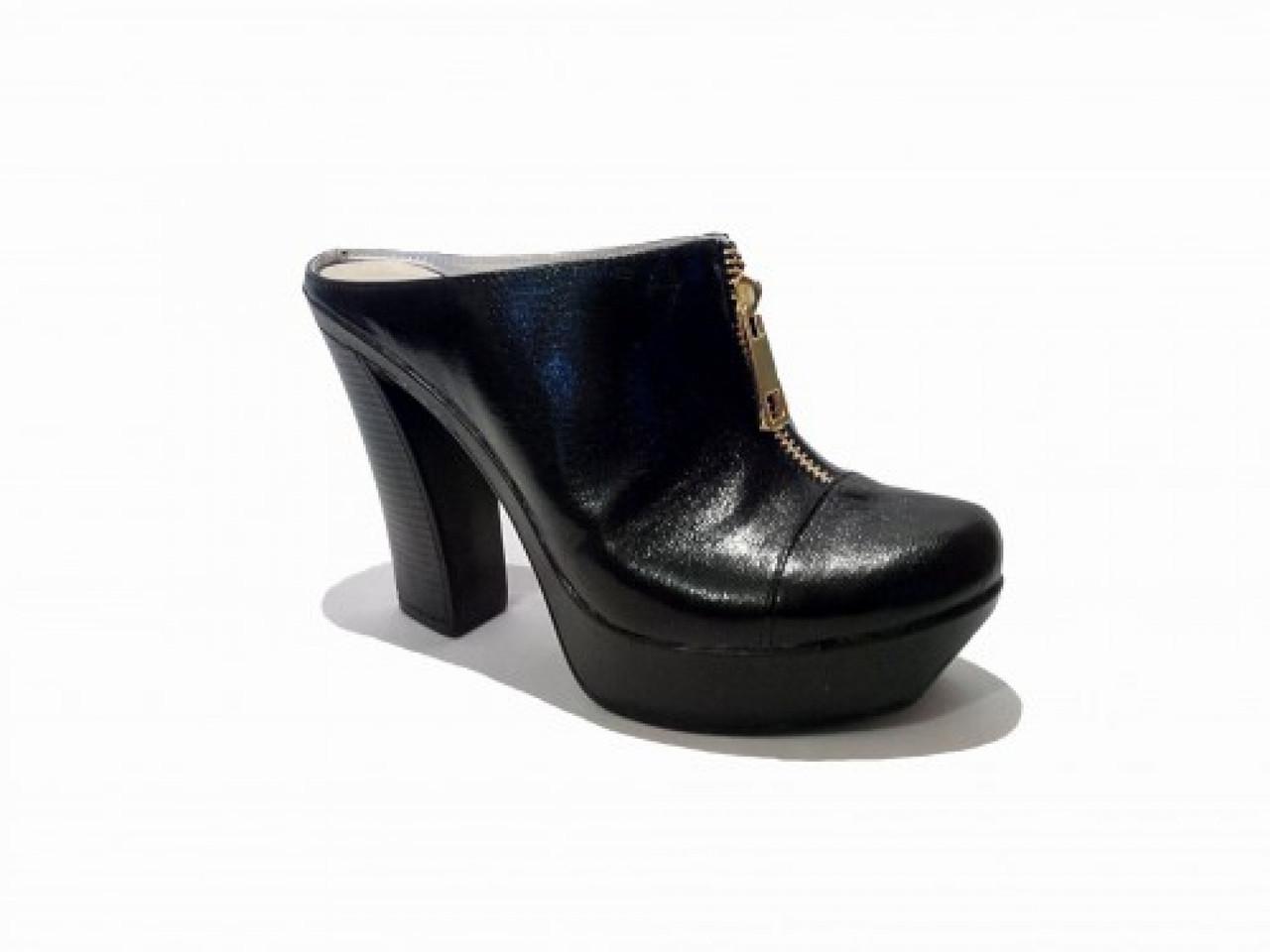 dc599acc3 Сабо из натуральной кожи черного цвета, на устойчивом высоком каблуке -  Nice Price в Одессе