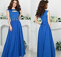 Синее длинное вечернее платье мода 2017