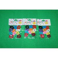 Резинка малютка цветная (12 пакетиков по 12 резинок), М4001