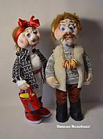 Кукла текстильная  ручной работы (Веселая парочка)