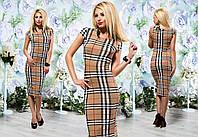 Стильное женское платье в крупную клетку