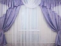 Комплект шторы и ламбрекен
