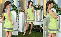 """Красивое летнее салатовое платье для женщин """"Морячка"""""""