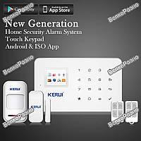 KERUI G18 Беспроводная GSM сигнализация, Android/IOS, Полный комплект. Без антенные оригинальные датчики.