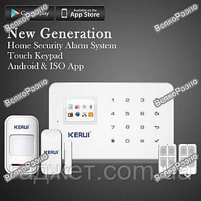 KERUI G18 Беспроводная GSM сигнализация, Android/IOS, Полный комплект. Без антенные оригинальные датчики., фото 2