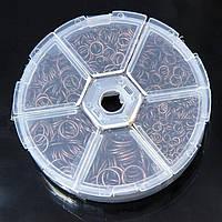 Колечки Одинарные, Железные, Микс, Цвет: Медь, Размер: 4-10мм, Толщина 0.7~1мм, около 1745шт/набор, (УТ100007181)