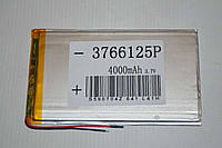 Универсальный аккумулятор (АКБ, батарея) 3.7V 4000mAh (3.7*66*125mm)