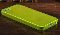 """Чехол """"Ультратонкий"""" для iPhone 5/5S, желто-зеленый (силиконовый)"""