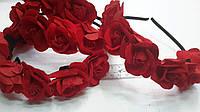 Обруч-венок красные розы