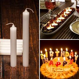 Свечи декоративные, хозяйственные