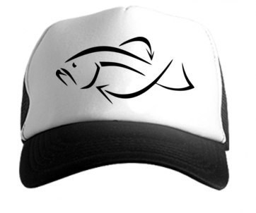 Кепка рыба,бейсболка рыба