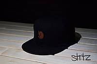 Рэперская кепка черная Fjallraven Snapback Cap